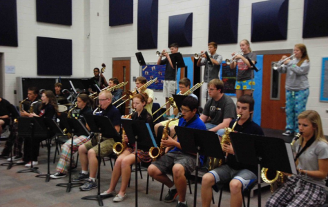 Jazz Band plays with the pros