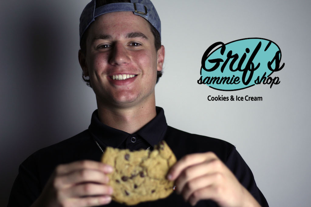 Sophomore Michael DiFiore recently beat the cookie-eating record at Grif's Sammie Shop in the Village at Allen.