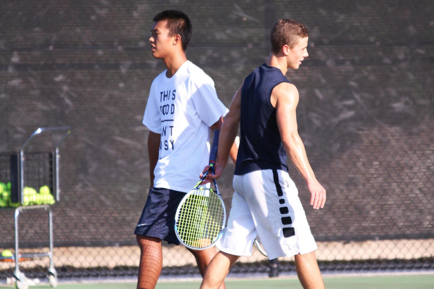 Juniors+Chris+Sun+and+Jack+Bennett+will+compete+at+Texas+A%26M+this+weekend+for+state+doubles.