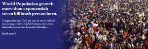 World Population reaches seven billion