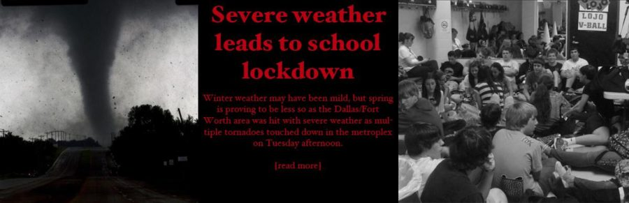 Severe weather leads to school lockdown