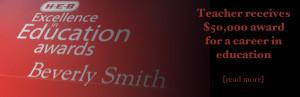 Lifetime Achievement award to Beverly Smith