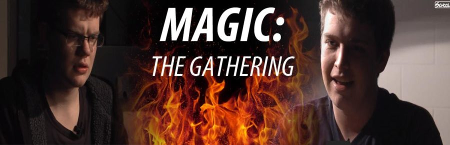 The Gathering: students, teacher pass time playing with Magic