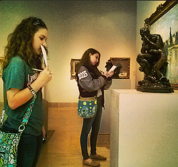 Classes take advantage of free admission at the DMA