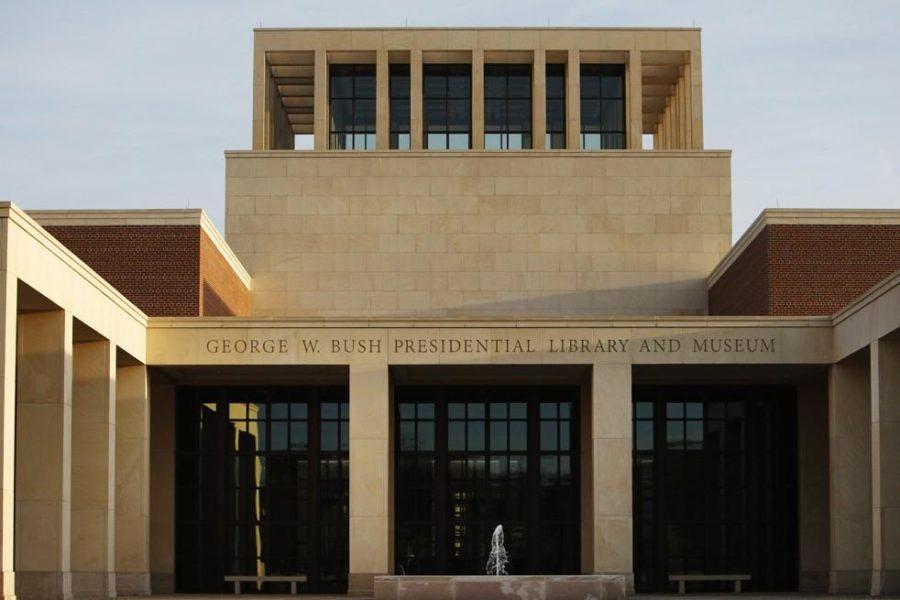 Bush library opening a rare showing of bipartisanship