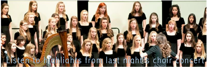 Listen to highlights of last night's choir concert