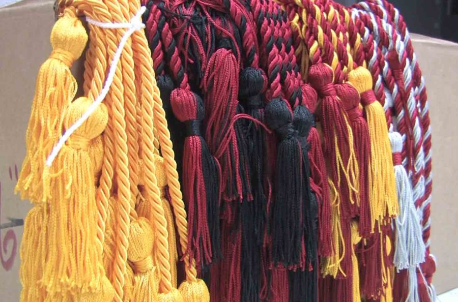 Graduation cords, along with caps and gowns are already in the hands of seniors as the last few days of school are filled with numerous senior events and activities.