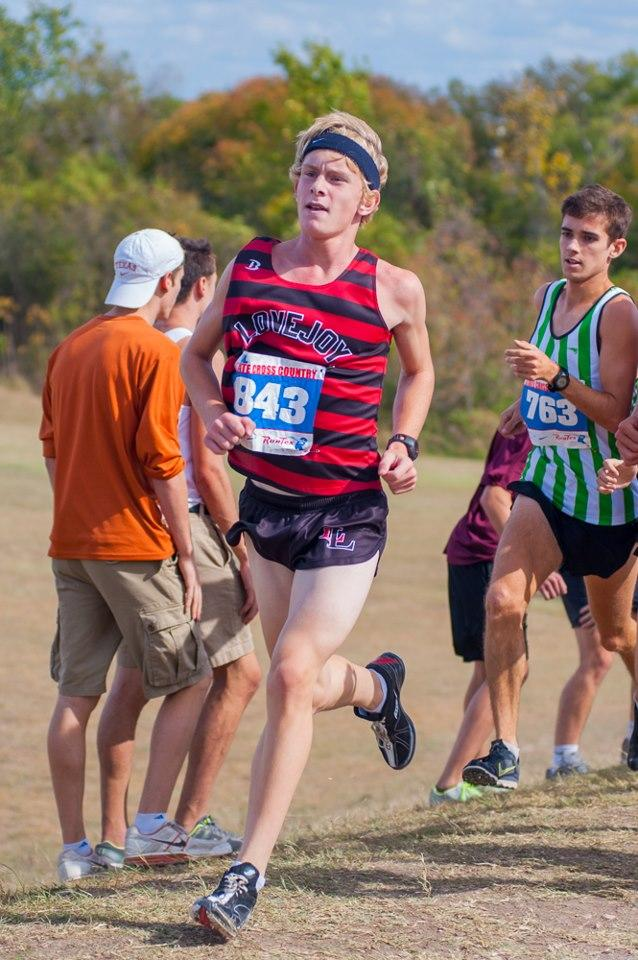 Sophomore Noah Landguth and the rest of the cross country team will be competing in the State Meet Saturday in Round Rock.