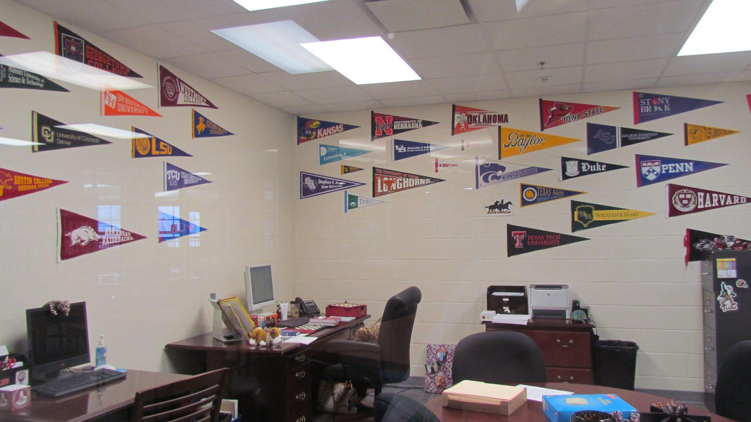 The college counselor's office is located in the library.
