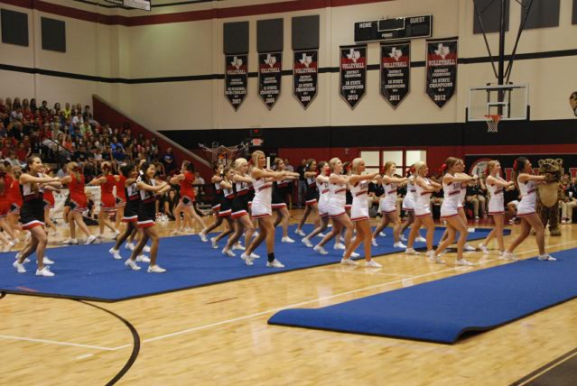 The first pep rally of the year took place on Friday, August 30 and left most students feeling excited for the first football game of the season.