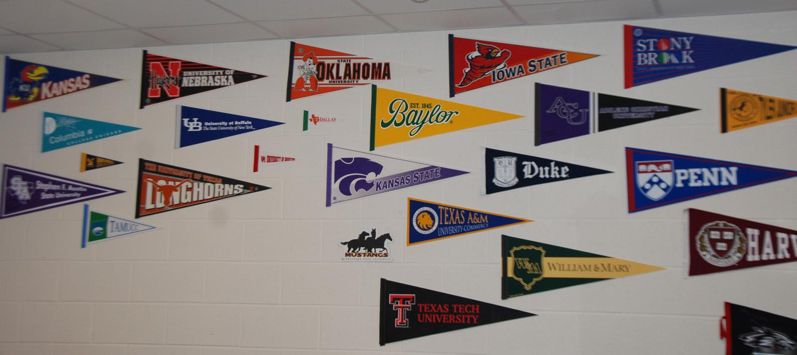 In the next few weeks, several college representatives will be visiting campus.  Among those scheduled to visit are Texas Tech, the University of Oklahoma and the University of Georgia.
