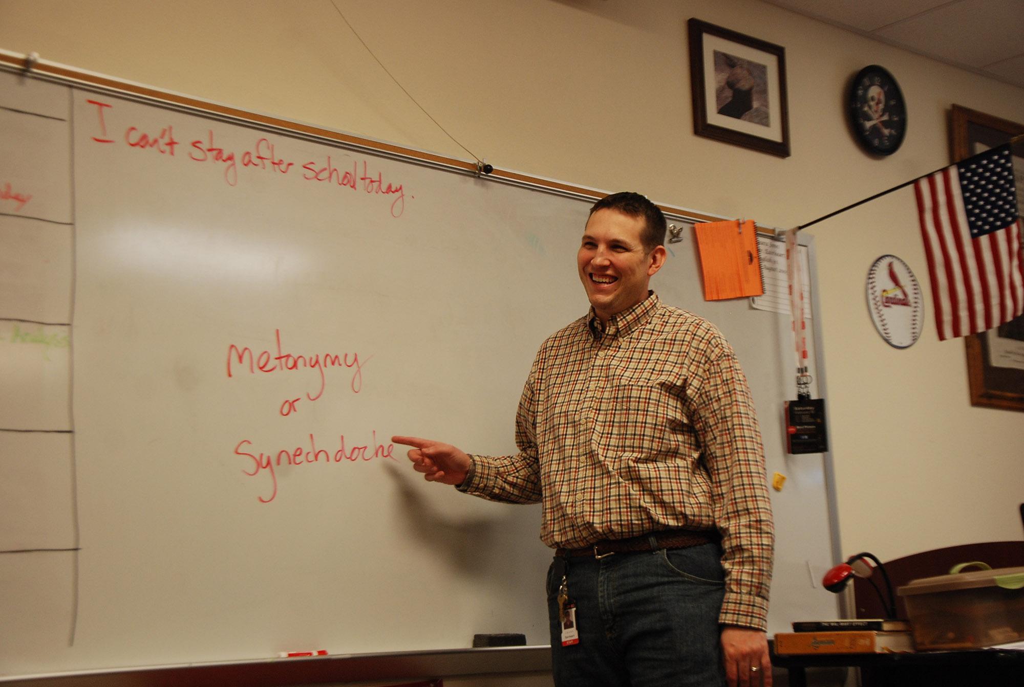 Among the new teachers on campus is AP Language teacher Jasen Eairheart.