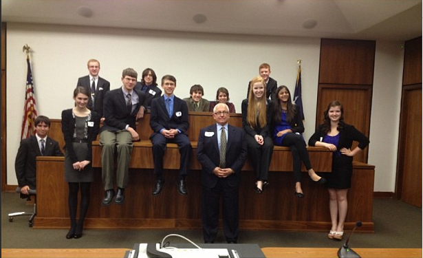 The 2012-2013 mock trial team after competition.