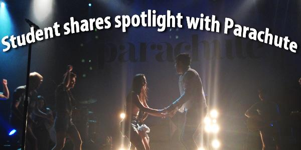 Student shares spotlight with Parachute
