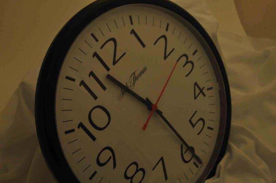 Daylight saving time falls back Sunday, November 3.