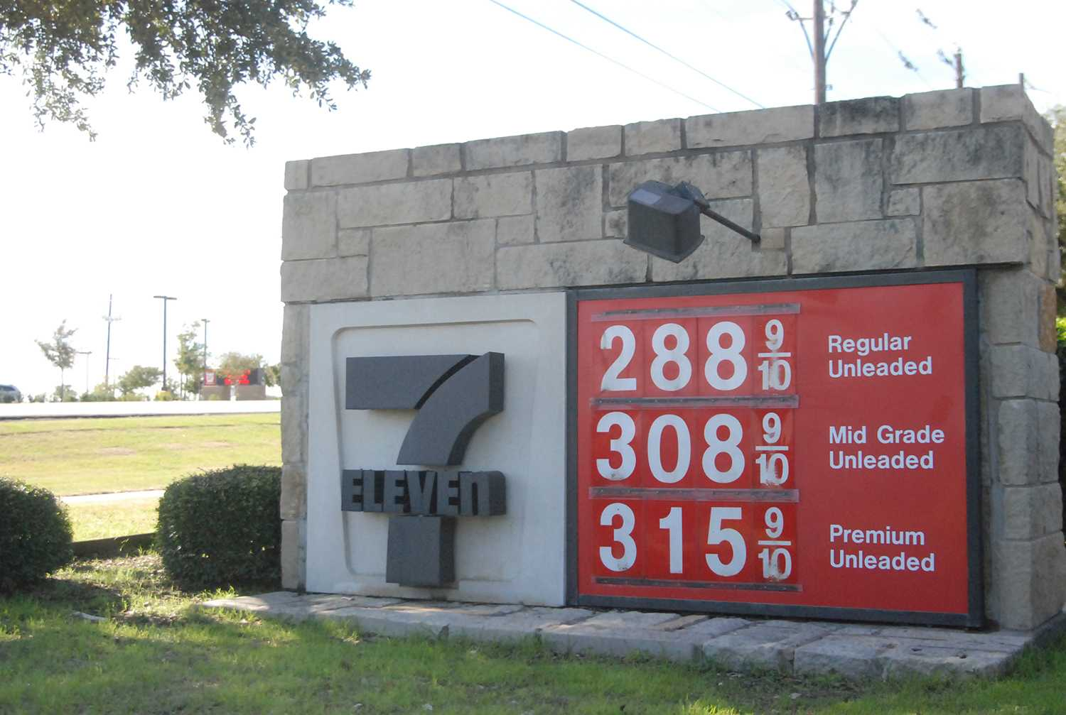 Gas prices are currently down by 30 to 40 cents in the Collin County area.