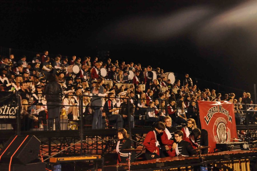 The band is a large source of spirit at both football games and pep rallies alike.