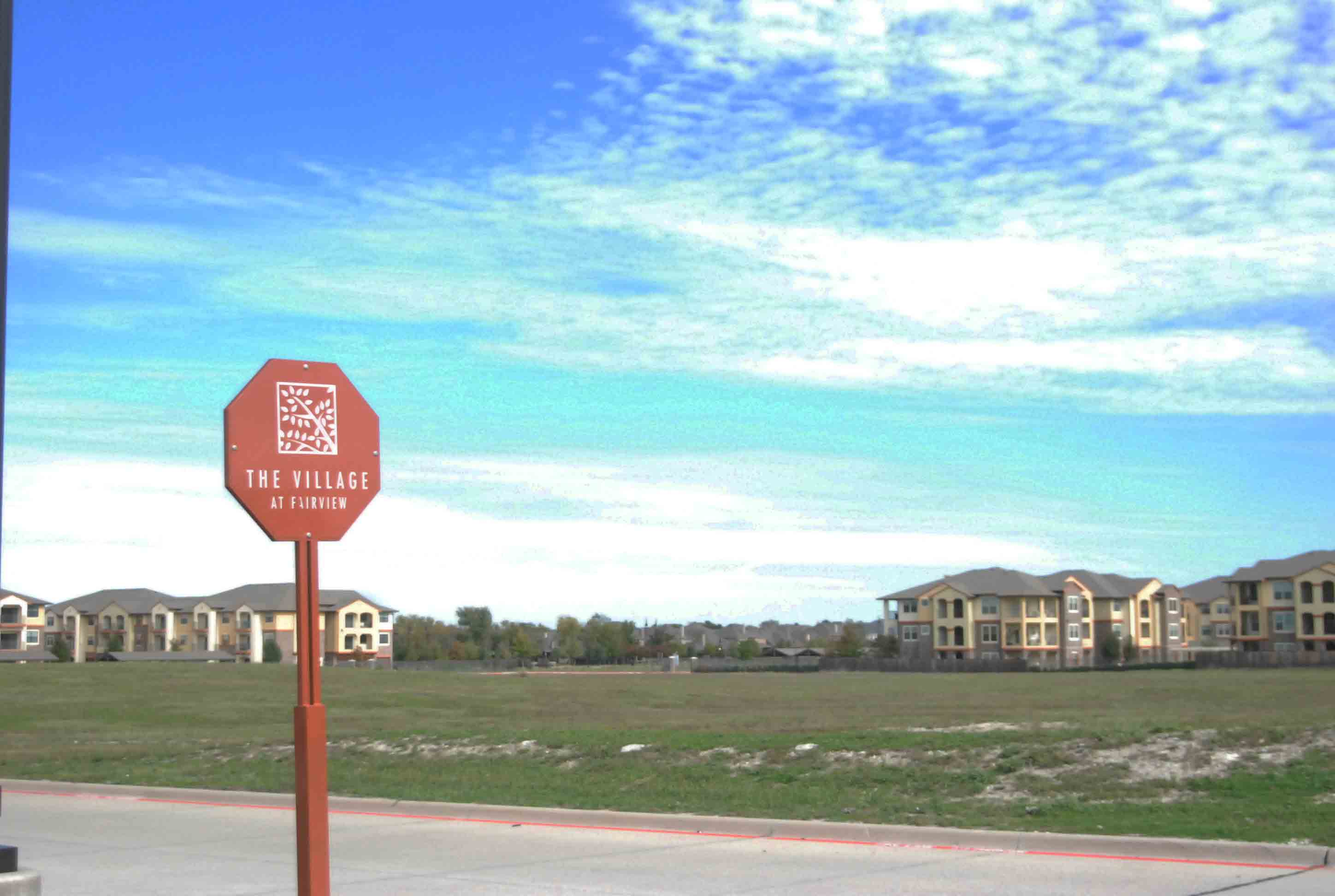 Located across from the sand volleyball courts at The Village of Fairview, this empty lot is slated to be the home of a new Residence Inn.  Construction is scheduled to begin in December 2015.