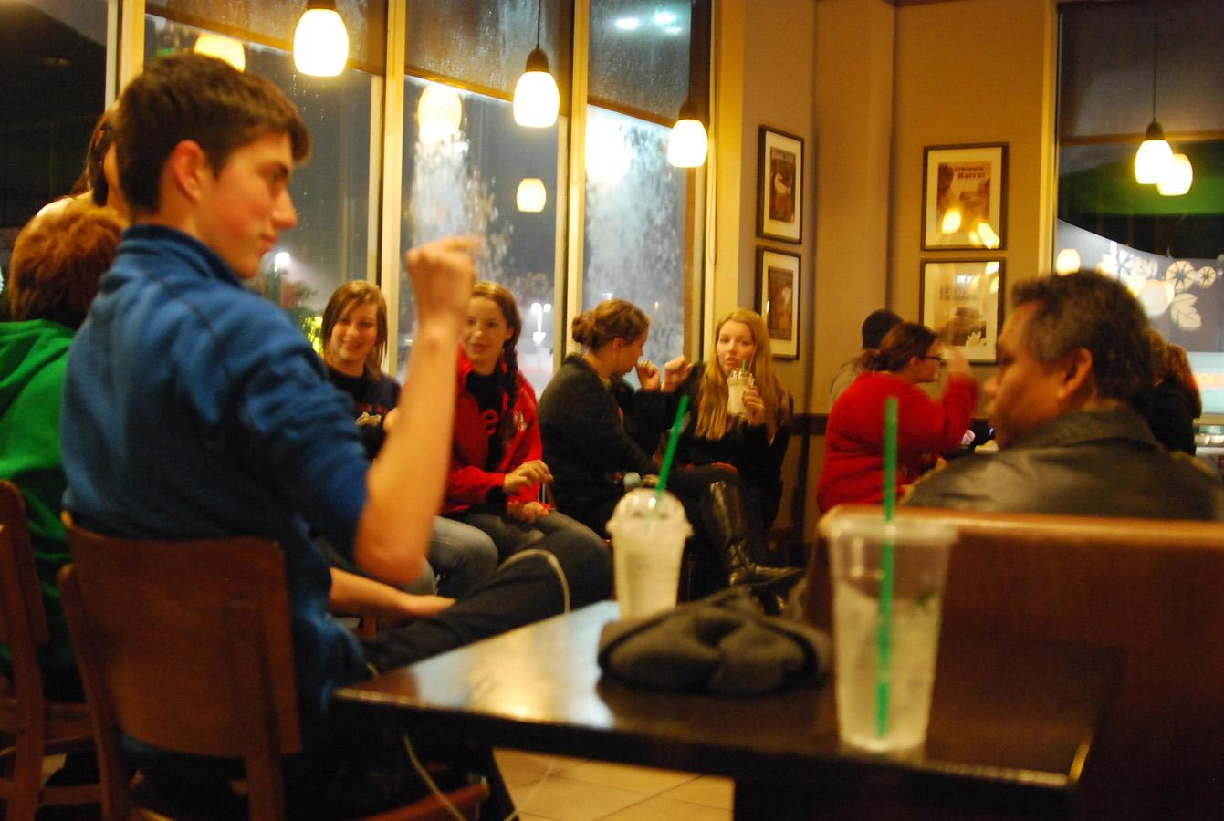 ASL students recently had the opportunity to go to Deaf Coffee. This trip enriched the students learning experience by giving them a