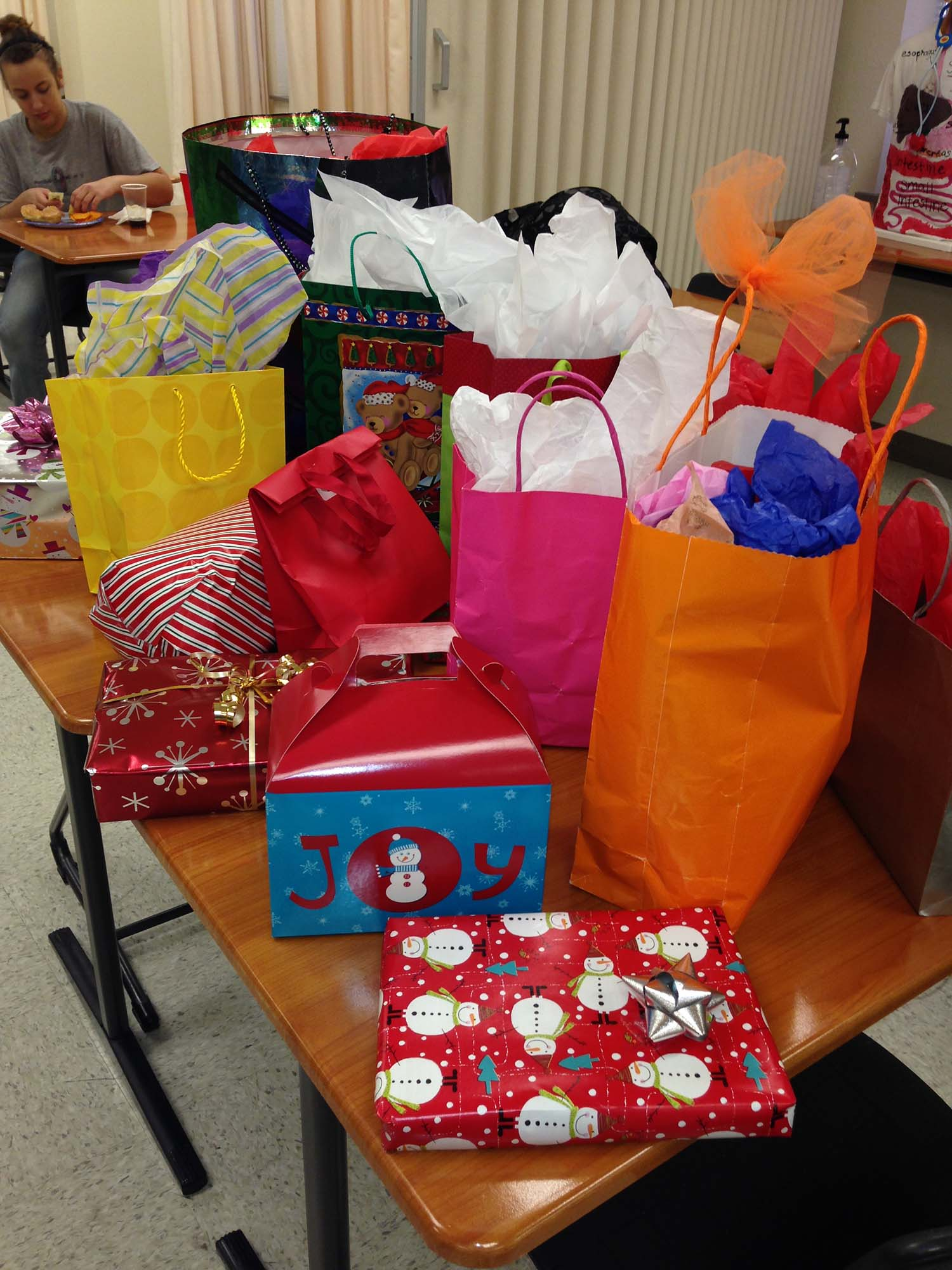 Many classes are having parties to celebrate the upcoming holidays and to relieve the stress of finals.