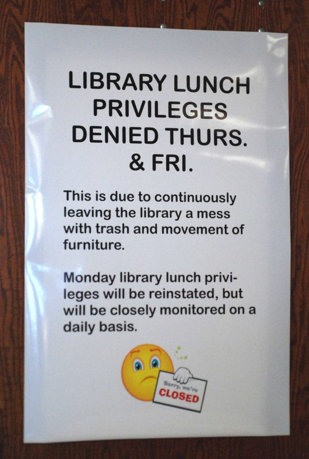 The+library+will+be+closed+for+students+to+eat+in+during+lunches+until+Monday+Jan.+27.