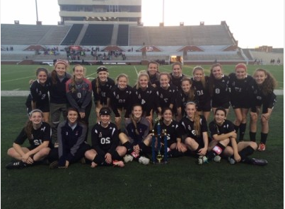 The Lady Leopard Soccer team became the champions of the Vernon  Newsom Classic Tournament after a victory over the Lake Ridge Eagles.