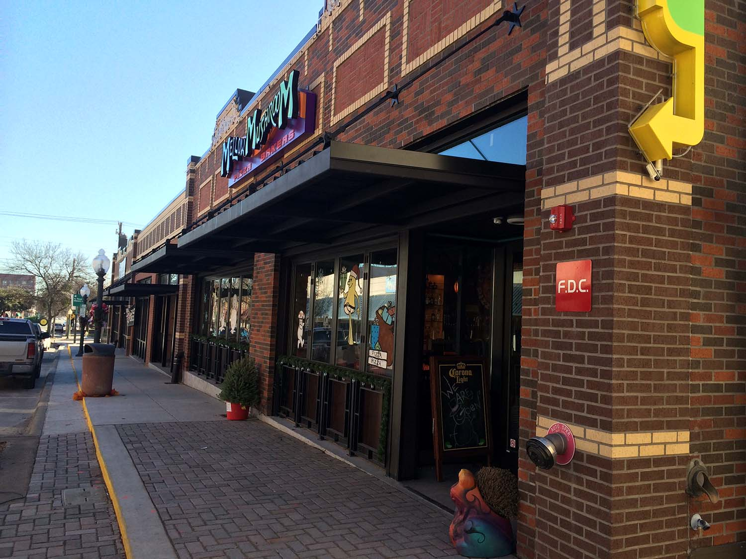Mellow Mushroom is a new pizza place in down town McKinney that is known to have the best pizza one can find.