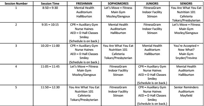 Alternative schedule set for Friday