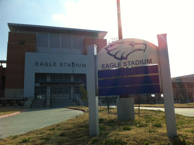 Allen High School's two year old stadium has been shut down until further notice due to cracks found in the foundation. This year's graduation ceremony will be moved, and the location of next year's home football games is to be determined.