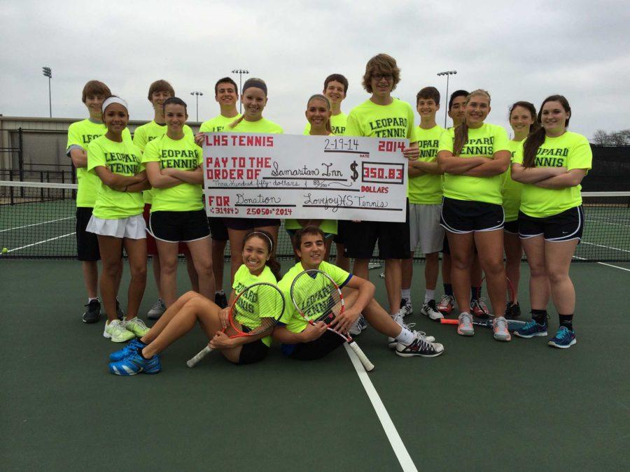 The+tennis+team+donated+10%25+of+its+%243508.25+profit+to+The+Samaritan+Inn+of+McKinney.