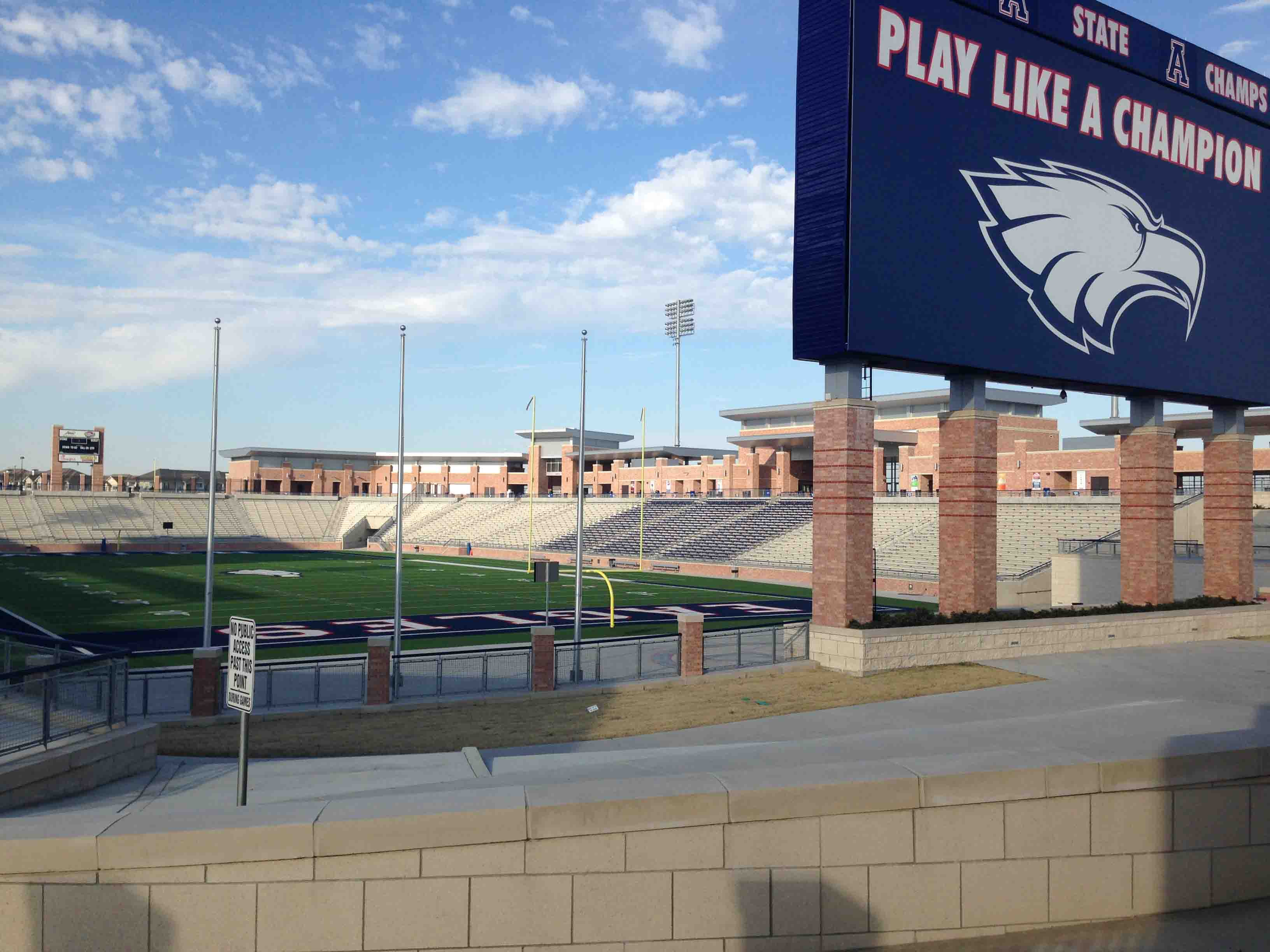 Although the extent of construction problems at Allen Eagle Stadium are not know, the builders of the stadium have said Allen ISD taxpayers will not be responsible for any repair expenses.