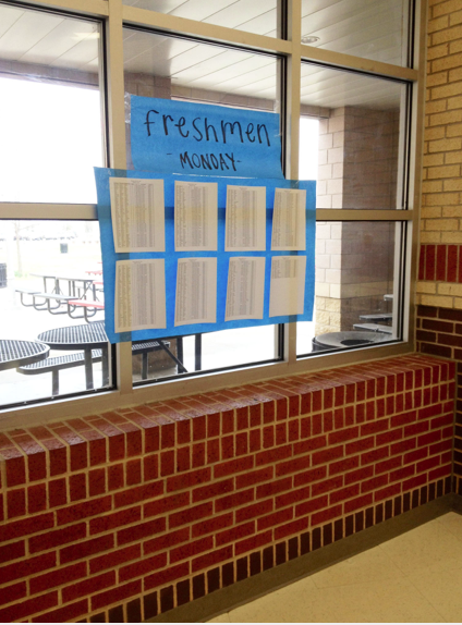 Students are displaced Monday and Wedsday due to STAAR testing. Room assignments and displacements will be posted in the commons.