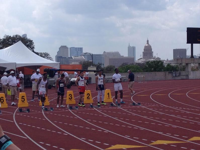 Four+students+traveled+to+Austin+to+compete+in+Texas+Relays.+Sophomore+Aaron+Fuller+was+one+of+the+four+and+finished+third+in+his+heat.+