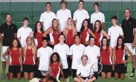Tennis team advances 5 players to the regional tournament to be held on Monday April 20 and Tuesday April 21 at Rockwall High School.