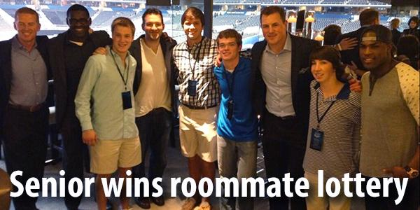 Senior Reed Walstad was surprised by his roommate with tickets to Jerry Jones suite for the Final Four games.