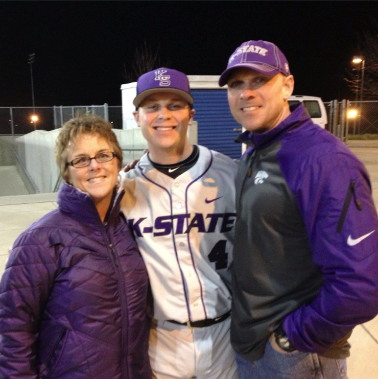 Alumnus Tanner DeVinny now plays baseball at Kansas State University in Manhattan, Kansas. DeVinny was named Big 12 co-newcomer of the week in April.