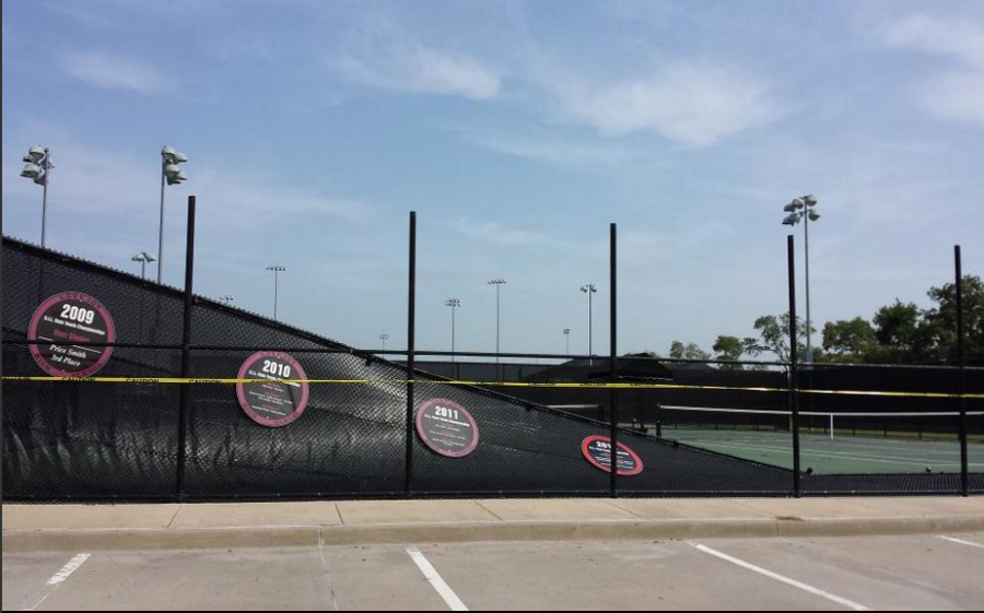 On August 18, a severe thunderstorm blew down the front fence of the leopard tennis court.