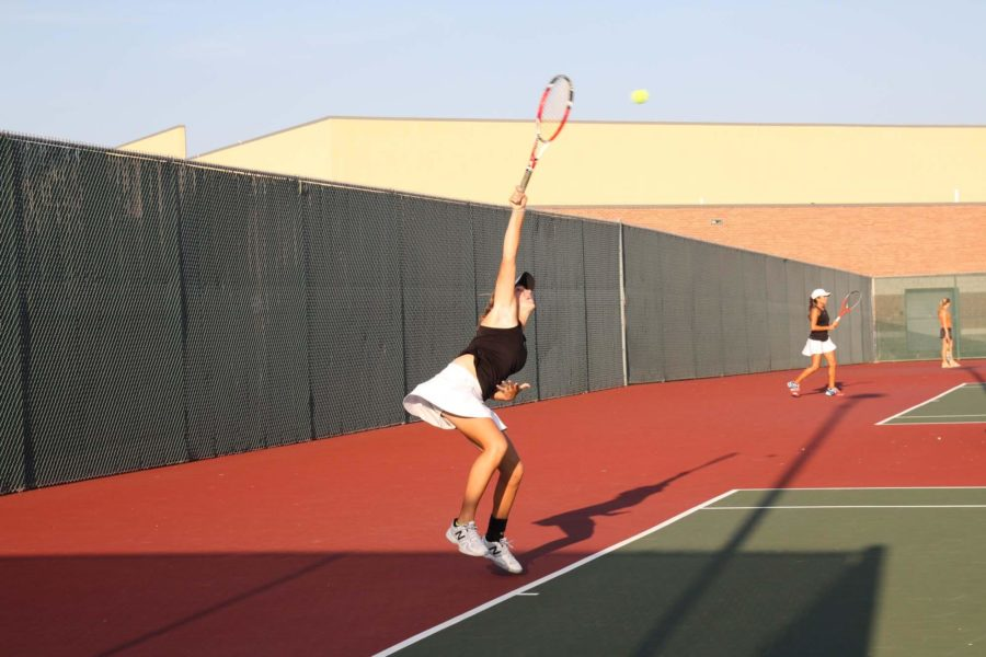 The tennis team faced their first loss of an undefeated season.