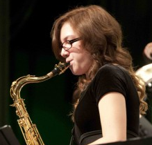 Many jazz students, including Jessica Goodrich, excelled at Jazz All Region.