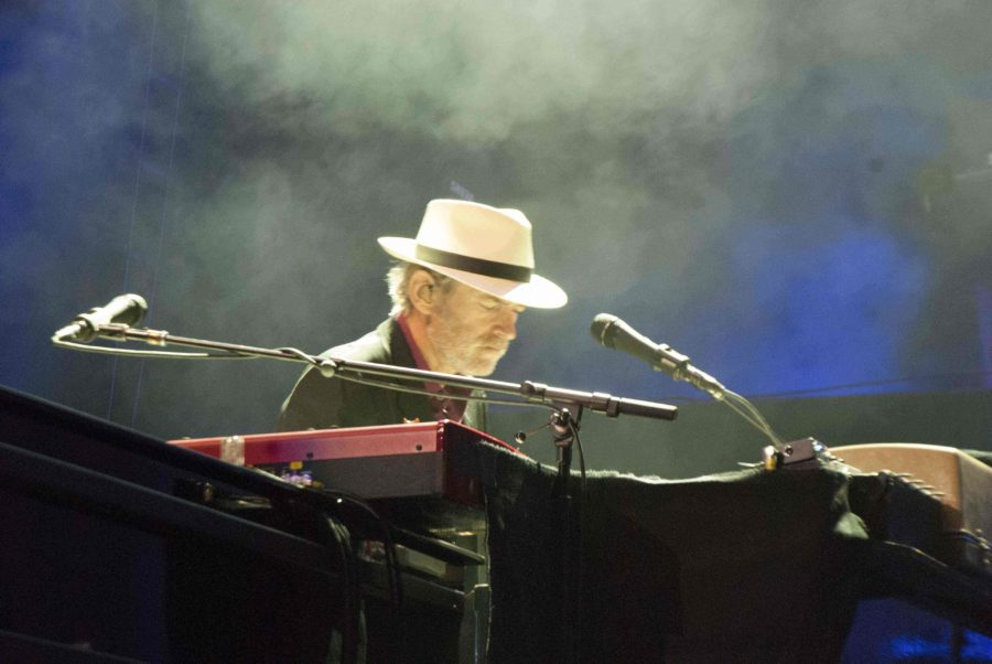 Keyboardist Benmont Tench plays as part of Tom Petty and the Heartreakers
