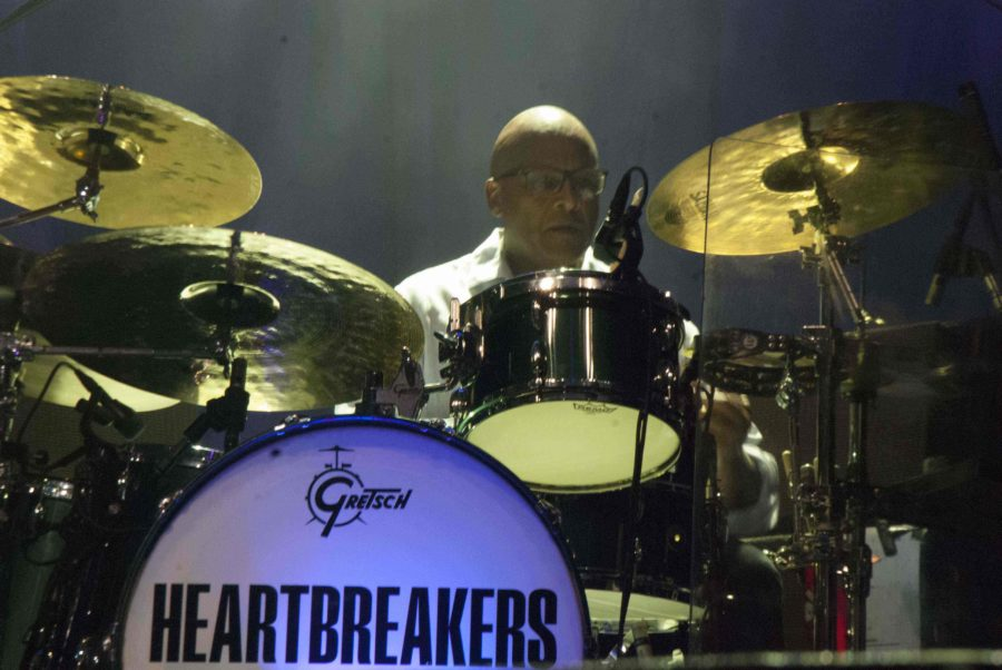 Drummer Steve Ferrone plays as part of Tom Petty and the Heartbreakers
