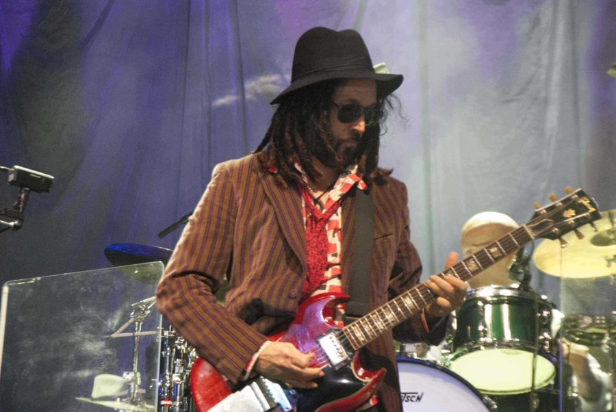 Lead guitarist Mike Campbell plays with Tom Petty and the Heartbreakers
