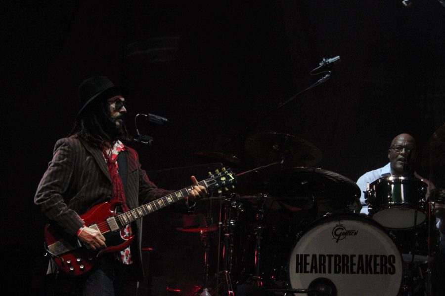 Lead guitarist Mike Campbell and Drummer Steve Ferrone play as part of Tom Petty and the Heartbreakers