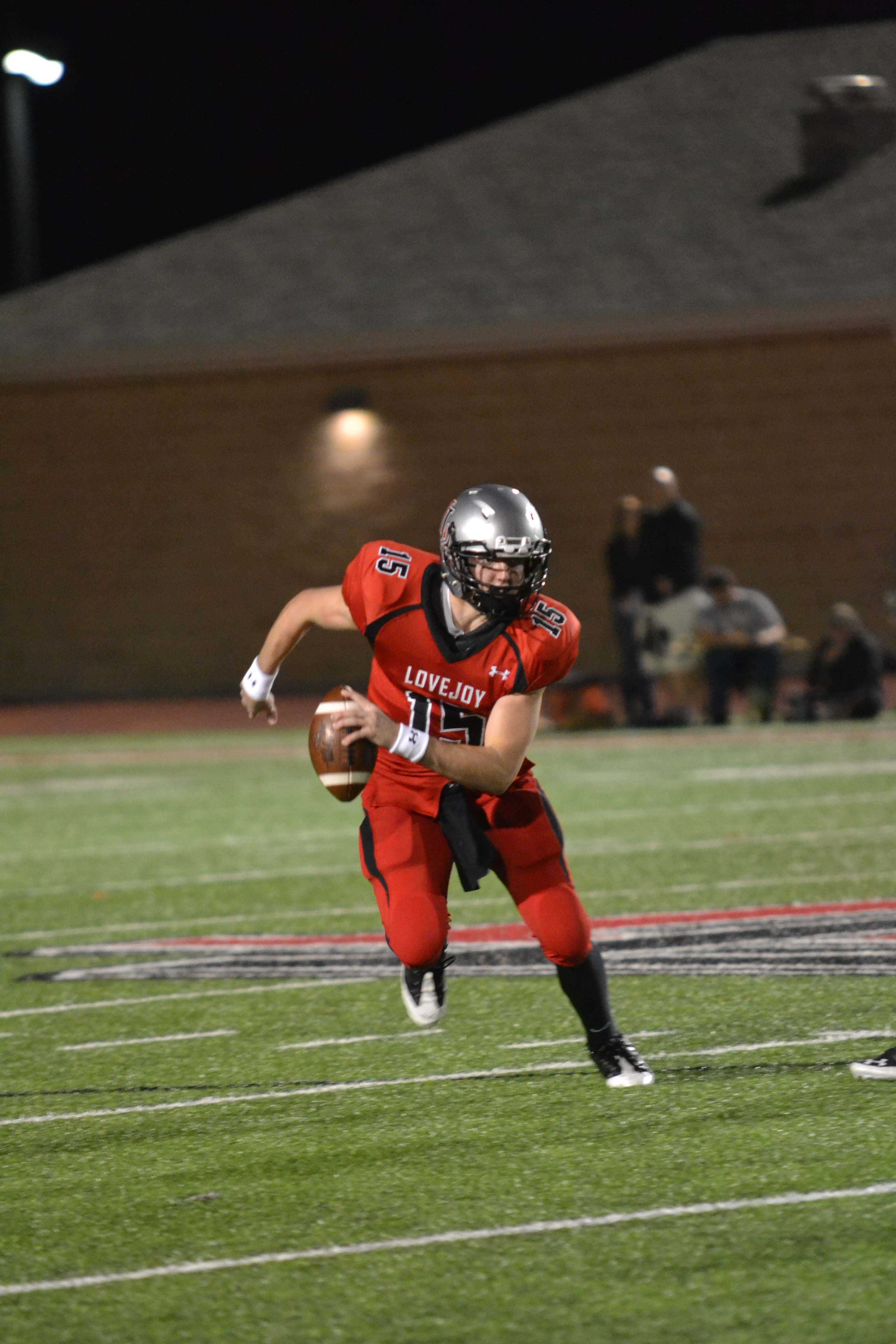 Junior Bowman Sells is the quarterback for the Leopards. The Red Ledger's Dom Mazero catches up with him.
