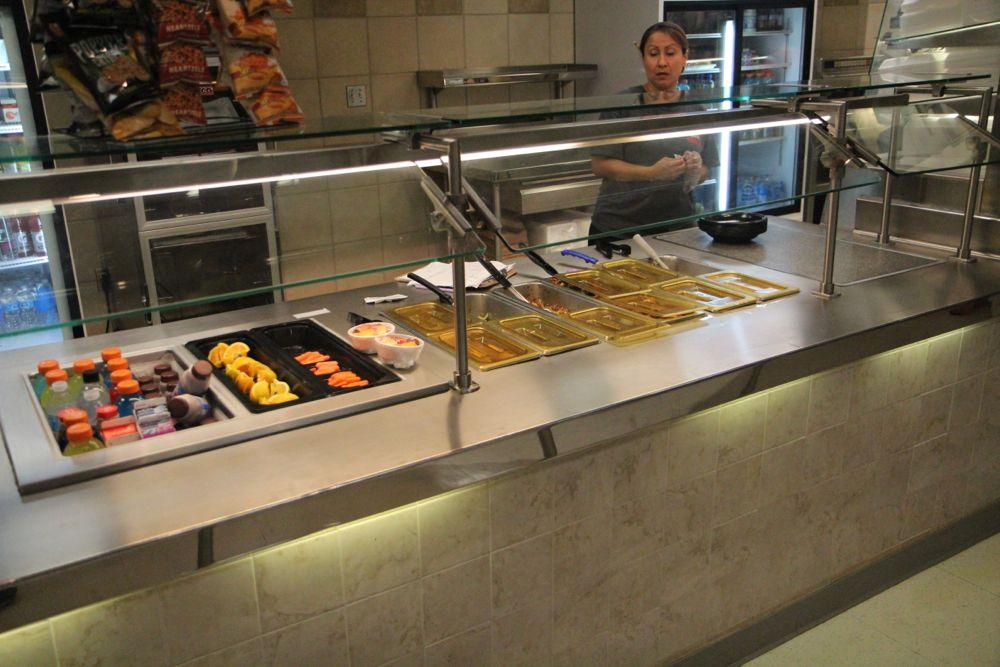 School lunch for more than a thousand students takes a lot of preparation from the district kitchen staff.