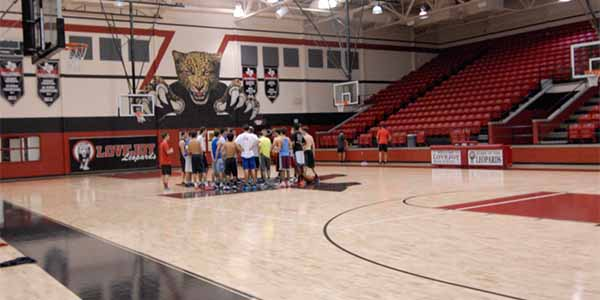 The basketball boys practice daily in the main gym, which payed off for them in their first tournament of the season.