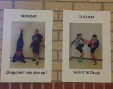 Whether it's advertising dress up days or the dangers of drugs and alcohol, Red Ribbon Week posters can be see all across campus.