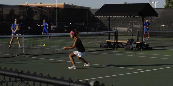 Senior Brittani Brooks plays on varsity tennis and has played for the United States Tennis Association.