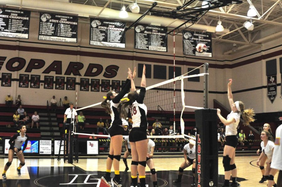 Facing+off+against+Sherman+on+Tuesday+night%2C+the+Leopards+volleyball+team+needs+a+win+to+ensure+it+finishes+the+regular+season+as+District+10-5A+co-champions.+If+the+Leopards+win%2C+there+will+be+a+match+against+Prosper+on+Saturday+to+determine+which+school+receives+the+district%27s+top+playoff++seed.