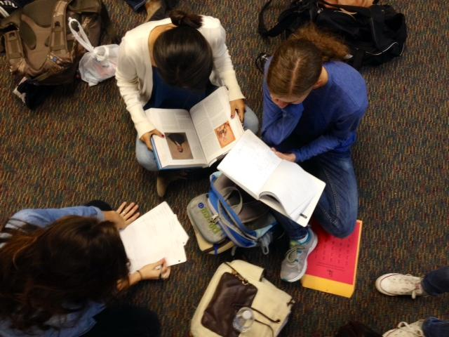 Student atheltes come together for a weekly study session to help manage their school work and practices.